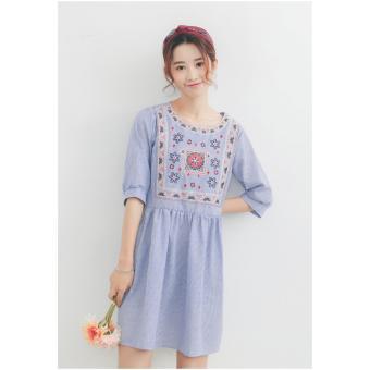 Boho Embroidery Flare Dress