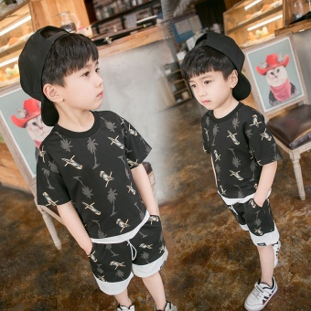 Boy Suit summer 2017 New Style 3 baby 4 in small children cottonchildren's clothing 5 children 6 years old summer sports clothes