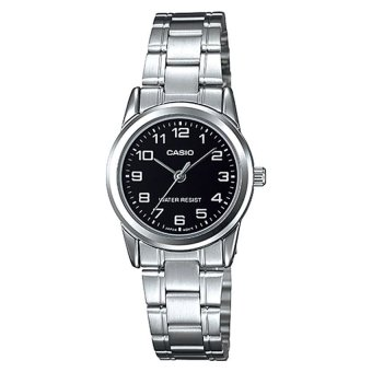 Casio Ladies' Silver Stainless Steel Strap Watch LTPV001D-1B