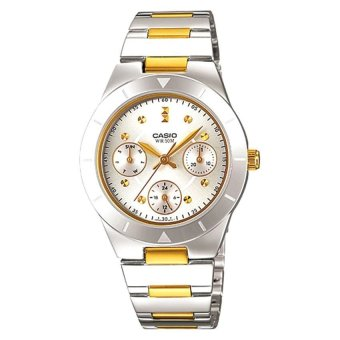 Casio Ladies' Silver Stainless Strap Watch LTP2083SG-7A