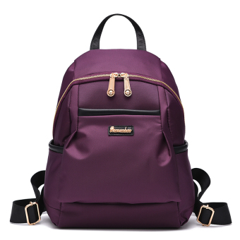 Casual Oxford spinning nylon canvas backpack (Purple (can be put A4 printing paper)) (Purple (can be put A4 printing paper))