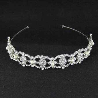 CROWN cute crystal Bride bow hair bands (Section 1)