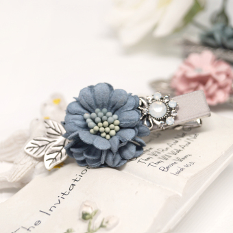 D0397 dimensional flowers colorful duckbill clip (jewelry) (Paragraph gray side) (Paragraph gray side)