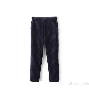 European and american wild striped casual pants