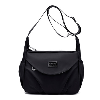 Fashion canvas New style shoulder women's bag small bag (Midnight black) (Midnight black)