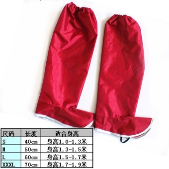 Fashion new water resistant LEg sets Waterproof shoes (Red (leg pants around leg independent separate))