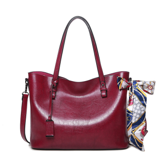 Female New style large bag (Red [Collection product to send clutch bag scarf])