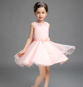 Girls 5 cotton veil dress skirt princess skirt dress (Princessdress pink color) (Princess dress pink color)