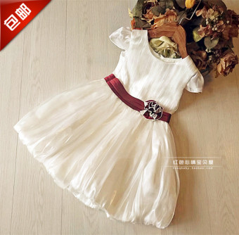 Girls skirt 2017 summer New style European and American dress skirt pleated Tutu princess dress cake dress flower girl dress