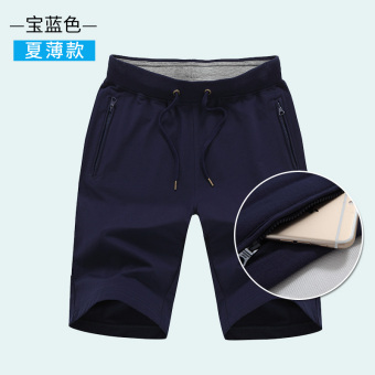 Guxing thin breathable running shorts I shorts (Sapphire Blue)