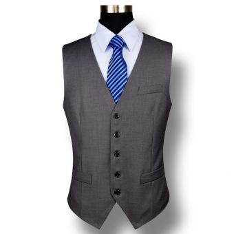 Haoyilang five buckle suit vest (Dark gray) (Dark gray)