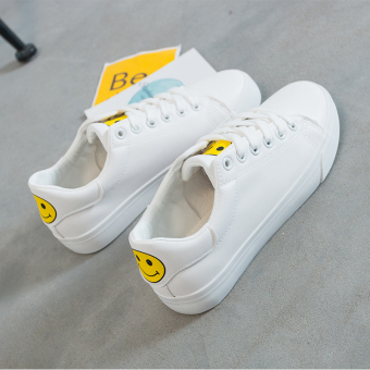 Hei versatile female New style Korean-style casual shoes Shoes (White Yellow)