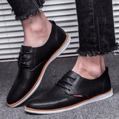 ... Crocodile Lines Pointed Business Leather Shoes Brown Source HengSong Men s Business Casual Shoes Flat Breathable
