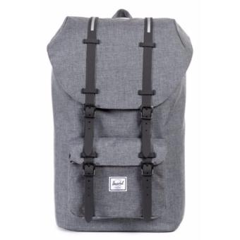 Herschel Supply Co. Little America Full-Volume Charcoal Crosshatch Rubber Backpack 25L
