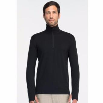 Icebreaker Men's Tech Top Long Sleeve Half Zip Top Black