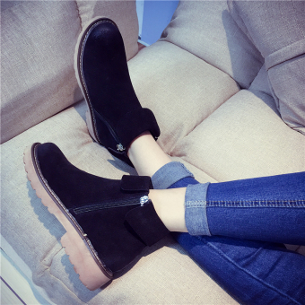 Korean-style female autumn Martin boots New style short boots (Black)