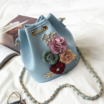 Korean-style female New style shoulder small bag (Blue)