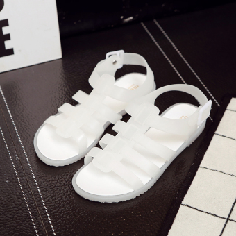 Korean-style Female Summer flat shoes sandals (299 white)