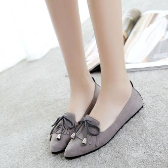 Korean-style New style spring and pointed shoes (Gray)