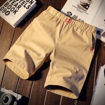 Korean-style sports five pants summer casual pants (K103-khaki color)