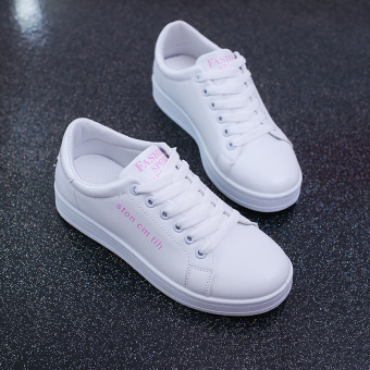 Korean-style Spring and Autumn New style flat sports shoes Shoes (Pink)