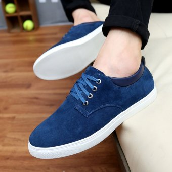 Leather Blue Spring Plus-sized shoes men shoes (Collection baby to send socks)