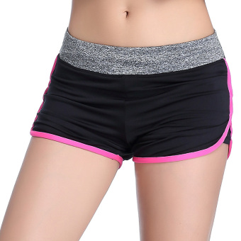 Lined with a quick-drying breathable training pants I shorts (Rose edge)
