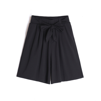 LOOESN female New style elastic waist wide leg pants shorts