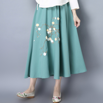 Loose artistic spring New style high-waisted half-length skirt