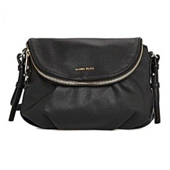 Mango Double Compartment Cross Body Shoulder Sling Bag (Black)