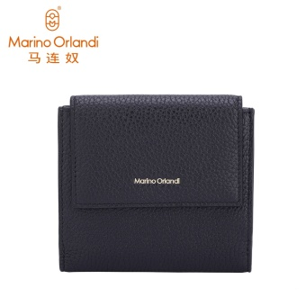 Marino first layer of leather female New style leather wallet (Black)