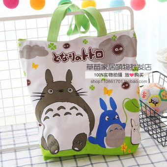 Melody cute egg women's bag canvas bag (Totoro large) (Totoro large)