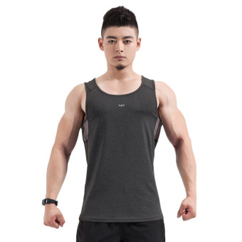 Men's loose-fitting stretch sleeveless workout t-shirt