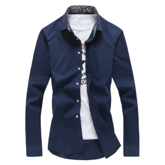 Men's Slim fit Teenager-inch Yi Chaohan version of long-sleevedshirt