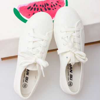 Met New style white low top canvas shoes