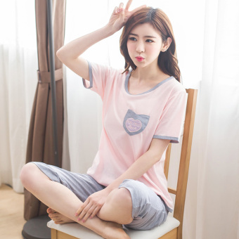 Mm short-sleeved female cotton pant summer tracksuit summer models pajamas (CG 301)