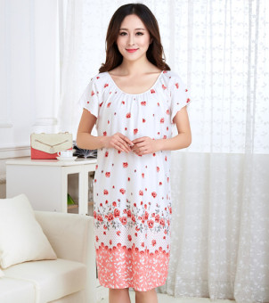 Mm200/3XL Female Summer Cotton Short sleeved extra-large women's lingerie pajamas (143)