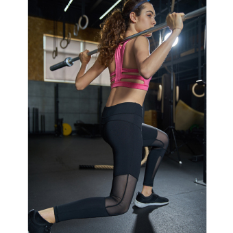 N3Y yoga pants female slim fit high waist running fitness mesh sports hop aerobics quick-drying stretch training trousers