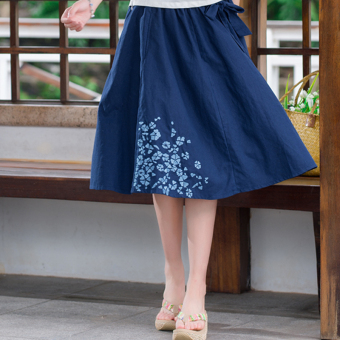 New style embroidered big swing a word skirt