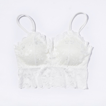 New style lace anti-base boob tube top (D5297 White 2 pieces)
