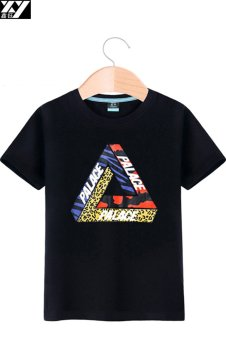 Palace Korean-style white short sleeved men T-shirt (Black 1) (Black 1)