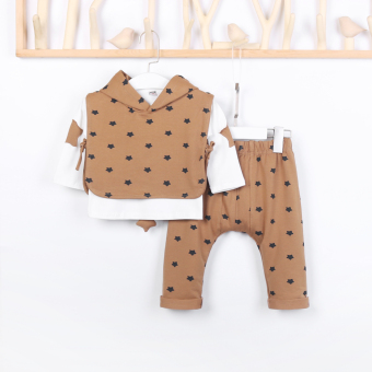 Small eight seven autumn New style boys sports suit infants andchildren fashion children's clothing baby three sets of0-6-Year-Old Cotton (Casual color)