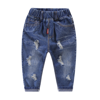 Spring and Autumn thin New style Baobao pants children's jeans