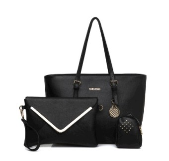 Spring and summer models tide New Style Large Capacity in Europe and America shoulder bag (Black) (Black)
