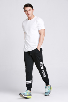 Stitch mens black New York joggers (Black)(Export)