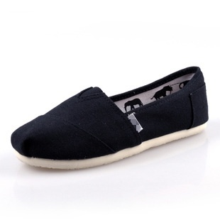 Tom Thomas canvas shoes solid color flat casual shoes couple shoesLR men and women shoe covers foot casual shoes