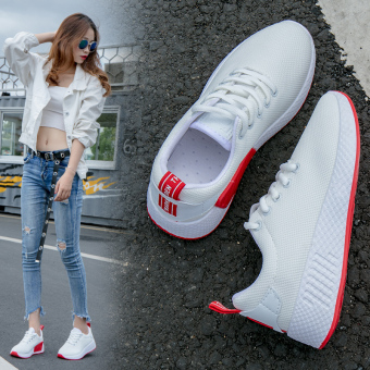 Ulzzang Korean-style New style network casual shoes athletic shoes (White)