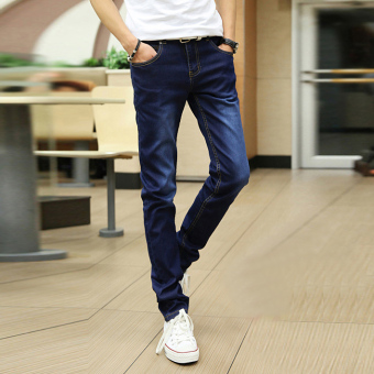 Versatile black Teenager pants winter jeans (Blue [817 conventional models])
