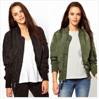 Winter parkas army green bomber jacket women coat zipper female (Army green army green) (Army green army green)