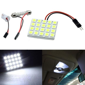 20 SMD 5050 LED T10 BA9S Dome Festoon Car Interior Light Panel Lamp 12V - intl
